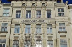 Λεωφόρος Hof - γενική αρχιτεκτονική σε Linke Weinzeile Βιέννη Στοκ εικόνα με δικαίωμα ελεύθερης χρήσης