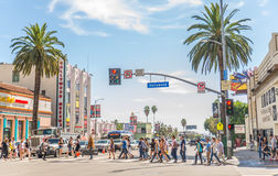 Λεωφόρος Hollywood, Λος Άντζελες Στοκ Εικόνα