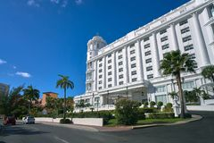 Λεωφόρος Kukulcan Cancun στη ζώνη ξενοδοχείων Στοκ φωτογραφία με δικαίωμα ελεύθερης χρήσης