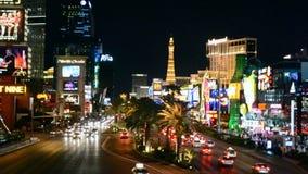 Λεωφόρος Las Vegas Strip, Νεβάδα, ΗΠΑ απόθεμα βίντεο