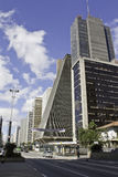 Λεωφόρος Paulista - κτήριο FIESP Στοκ εικόνα με δικαίωμα ελεύθερης χρήσης