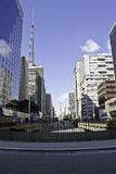 Λεωφόρος Paulista Στοκ Φωτογραφίες