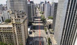 Λεωφόρος Paulista Paulista Avenida, πόλη του Σάο Πάολο, Βραζιλία στοκ εικόνες
