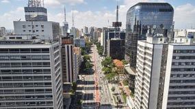 Λεωφόρος Paulista Paulista Avenida, πόλη του Σάο Πάολο, Βραζιλία στοκ φωτογραφία