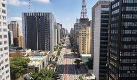 Λεωφόρος Paulista Paulista Avenida, πόλη του Σάο Πάολο, Βραζιλία στοκ εικόνες με δικαίωμα ελεύθερης χρήσης