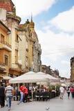 Λεωφόρος Republicii σε Oradea Ρουμανία στοκ φωτογραφία