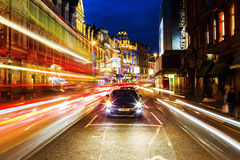 Λεωφόρος Shaftesbury στο Λονδίνο, UK, τη νύχτα Στοκ φωτογραφία με δικαίωμα ελεύθερης χρήσης