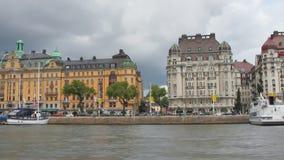Λεωφόρος Strandvagen Στοκχόλμη, Σουηδία απόθεμα βίντεο