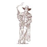 Ληστής με μια καπνισμένη κάνη ελεύθερη απεικόνιση δικαιώματος