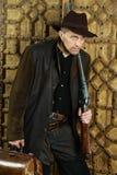 Ληστής με το πυροβόλο όπλο Στοκ φωτογραφία με δικαίωμα ελεύθερης χρήσης