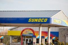 Λιανική θέση βενζίνης Sunoco στοκ εικόνες