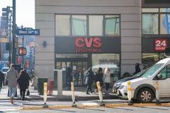 Λιανική θέση φαρμακείων CVS CVS είναι η μεγαλύτερη αλυσίδα φαρμακείων στις ΗΠΑ VI στοκ φωτογραφία