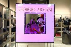Λιανική προθήκη Giorgio Armani Στοκ εικόνες με δικαίωμα ελεύθερης χρήσης