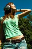 λιβάδια κοριτσιών Στοκ φωτογραφίες με δικαίωμα ελεύθερης χρήσης