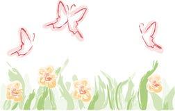 λιβάδι λουλουδιών πετ&alpha διανυσματική απεικόνιση