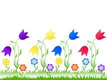 λιβάδι λουλουδιών διανυσματική απεικόνιση