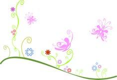 λιβάδι πεταλούδων διανυσματική απεικόνιση