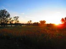 Λιβάδι Sunsets στοκ εικόνα