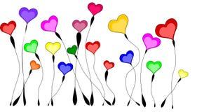 Λιβάδι της ανάπτυξης της καρδιάς που απομονώνεται Στοκ εικόνα με δικαίωμα ελεύθερης χρήσης