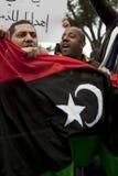 λιβυκή διαμαρτυρία πρεσ&be στοκ φωτογραφία με δικαίωμα ελεύθερης χρήσης