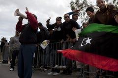 λιβυκή διαμαρτυρία πρεσ&be Στοκ εικόνα με δικαίωμα ελεύθερης χρήσης