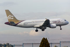 Λιβυκό airbus αερογραμμών A320 Στοκ εικόνα με δικαίωμα ελεύθερης χρήσης