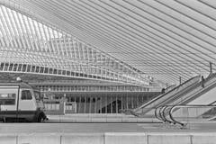 ΛΙΕΓΗ, ΒΕΛΓΙΟ - το Δεκέμβριο του 2014: Άποψη σχετικά με τις κυλιόμενες σκάλες στη Λιέγη Στοκ εικόνες με δικαίωμα ελεύθερης χρήσης