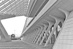 ΛΙΕΓΗ, ΒΕΛΓΙΟ - το Δεκέμβριο του 2014: Άποψη σχετικά με το επίγειο επίπεδο στο Lieg Στοκ εικόνα με δικαίωμα ελεύθερης χρήσης