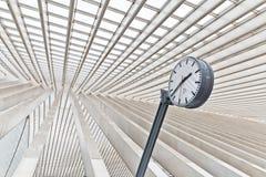 ΛΙΕΓΗ, ΒΕΛΓΙΟ - το Δεκέμβριο του 2014: Αφηρημένη άποψη σχετικά με τη στέγη με το s Στοκ εικόνα με δικαίωμα ελεύθερης χρήσης