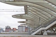 ΛΙΕΓΗ, ΒΕΛΓΙΟ - το Δεκέμβριο του 2014: Λεπτομερής στέγη του Λιέγη-Guill Στοκ φωτογραφία με δικαίωμα ελεύθερης χρήσης
