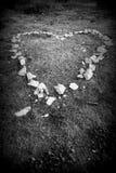 Λιθοστρωμένη καρδιά (γραπτή) Στοκ φωτογραφίες με δικαίωμα ελεύθερης χρήσης