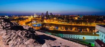 Λιθουανία. Vilnius το βράδυ. Στοκ Εικόνα