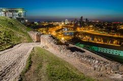 Λιθουανία. Vilnius το βράδυ. Στοκ Φωτογραφία
