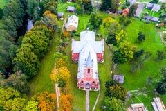 Λιθουανική εναέρια άποψη εκκλησιών Στοκ Φωτογραφίες