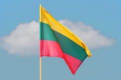 Λιθουανική σημαία Στοκ Εικόνα