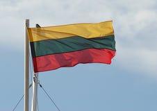 Λιθουανική σημαία Στοκ φωτογραφία με δικαίωμα ελεύθερης χρήσης