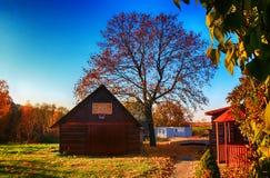Λιθουανικό αγροτικό αγροτικό σπίτι Στοκ Εικόνες