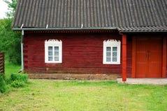 λιθουανικό παλαιό χωριό αγροτικών σπιτιών Στοκ Εικόνα