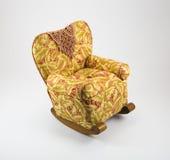 Λικνίζοντας καρέκλα σπιτιών κουκλών Στοκ Εικόνες