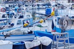 Λιμάνι ή λιμένας βαρκών στο λυκόφως Στοκ εικόνες με δικαίωμα ελεύθερης χρήσης