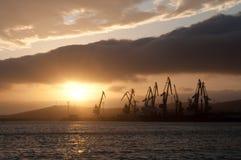 λιμάνι αυγής Στοκ Φωτογραφίες