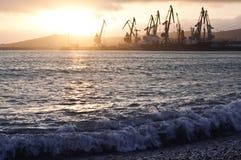 λιμάνι αυγής Στοκ εικόνα με δικαίωμα ελεύθερης χρήσης