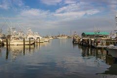 Λιμάνι βαρκών, λιμένας Aransas Τέξας Στοκ Φωτογραφία