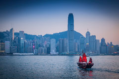 Λιμάνι Βικτώριας Χονγκ Κονγκ στην Κίνα, Χονγκ Κονγκ Στοκ εικόνες με δικαίωμα ελεύθερης χρήσης