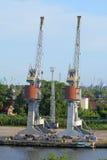 λιμάνι γερανών Στοκ εικόνες με δικαίωμα ελεύθερης χρήσης
