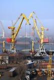 λιμάνι γερανών στοκ εικόνες