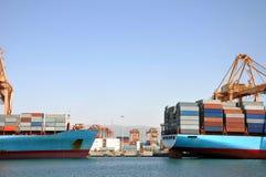 λιμάνι εμπορευματοκιβω Στοκ Φωτογραφία
