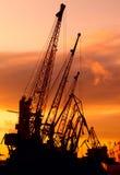 Λιμάνι - ηλιοβασίλεμα Στοκ Φωτογραφία