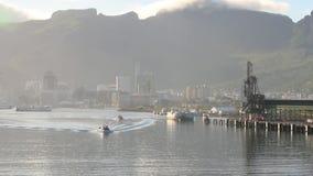Λιμάνι και βουνά λιμένας του Louis Μαυρίκιος απόθεμα βίντεο