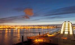 Λιμάνι και κτήριο Dockland Στοκ Εικόνες